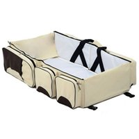 Wholesale diaper station resale online - Baby In Multi functional Diaper Bags Travel Bassinet Portable Bassinet Changing Pad Station
