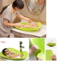 ingrosso vasca da bagno doccia-2017 New Blooming cuscini riempiti baby shower vasca da bagno baby halo progetto soft liner 0-3 anni Bath Seat Security Seat
