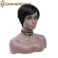 Wholesale medium length hair for women for sale - Group buy Mongolian Short Bob Wigs Human Hair Straight Brazilian Hair Lace Front Wig For Black Women Lace Bob Virgin Hair