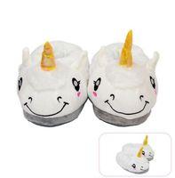 Wholesale indoors gift for sale - Plush Unicorn Slippers Non Slip Keep Warm Cute Animal Sheep Slipper Cartoon Indoor Floor home Shoes Christmas Gift GGA1241
