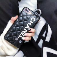 handgelenkbandtelefone großhandel-Stilvolle pu leder telefon case handgelenk band strap style smartphone fällen für iphone x xs max xr 8 8 p 7 7 p 6 6 s plus rückseitige abdeckung