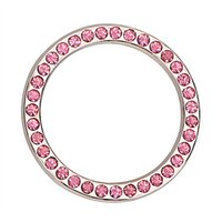 Wholesale pink auto decals online - Auto Key Switch Decoration Car Ignition Switch Cover Diamond Car Styling Car Stickers and Decals Auto Accessories