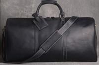 ingrosso bagagli in pelle di qualità-lettera vendita calda Viaggio di alta qualità Famoso marchio Keepall spalla borsa da viaggio N41418 Duffle Bag in vera pelle marrone mono uomo Bagagli Bag