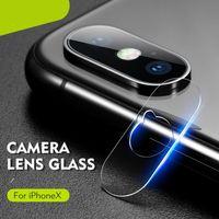 iphone vidros temperados venda por atacado-Macio temperado óculos para iphone xs max xr 2.5d lente da câmera de volta anti scratch protetor de tela de fibra macia film para iphone xs com pacote