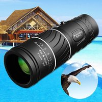 Wholesale monocular 16x52 - 16x52 Hunting Optics HD Optical Lens Day & Night Vision Monocular Waterproof Super Clear Zoom Telescope for Outdoors