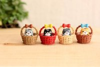 Wholesale Cheese Cat Toy - Cute Christmas Gift Mini Cheese Cat Miniature Figurines Toys Cute Lovely Model Kids Toys Japanese Anime Children Figure World