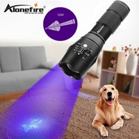 Wholesale self adhesive led lighting - AloneFire High power G700 XPE LED Zoom UV Light Flashlight 395nm torch lamp UV adhesive curing Travel safety UV detectio AAA 18650 battery