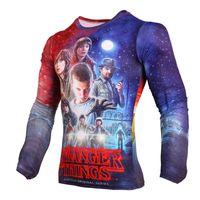Wholesale Black Superman T Shirt - Compression T-shirt For Men 3D Printed Stranger Things Winter Soldier Tee Shirt Superman Homme Long Sleeve Funny Tshirt Mma Rash Guard