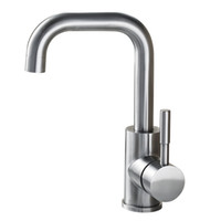 Wholesale nickel basin - BLH 522 Single Hole Bathroom Basin Faucet Hot & Cold Water Tap High Class Brushed Nickel Deck Mounted