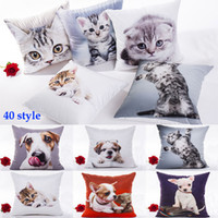 Wholesale 3d dog cases for sale – best 3D Printing Cat Dog Pillow Case Christmas Cartoon Pillow Cover Home Sofa Car Decorative Cushion Cover Without core Free DHL WX9