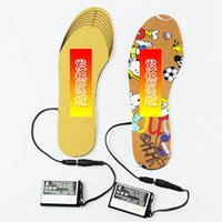 Wholesale insoles warming - 2000mAh Rechangeable Battery Heated Insole Electric Powered Winter Shoes Feet Warm Kids Children Cut-to-Fit