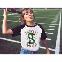 ulzzang t shirts groihandel-Riverdale Southside Serpents T-Shirts Frauen-Sommer-Art-neues Harajuku kawaii Raglan-T-Shirt Mädchendame für weibliche ulzzang Oberteile