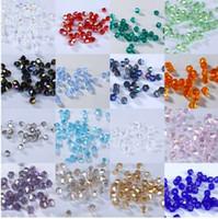 kristal yüzlü bisiklet toptan satış-Toptan # 5301 2mm 1000 adet Cam Kristaller Boncuk Bicone Faceted Boncuk gevşek Spacer Boncuk DIY Takı Yapımı U seçim renk