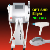 Wholesale Q Up - OPT SHR fast Hair Removal Nd Yag Laser Tattoo Removal Q Switched machine E-light Skin Rejuvenation breast lift up OEM&ODM available