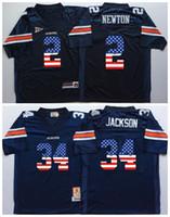 Discount football flags - 2018 Auburn Tigers Blue 34 Bo Jackson 2 Cam Newton Mens College Football Jersey Men Flag Jerseys