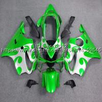 körper kundenspezifische cbr großhandel-5Gifts + Custom Injection Mould grün Motorrad Rumpf für Honda CBR 600F4i 20042007 CBR600 F4i 2004 2007 ABS Verkleidungen Body Kit
