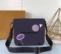 Wholesale Travel Cross Body Bags Women - DISTRICT PM Top quality famous fashion designer messenger bags Crossbody Office Bags for Men Document Briefcase Travel Bags N41054