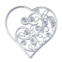 Wholesale Paper Crafts Templates - 1 pcs Metal Cutting Dies Hollow Out Heart Carbon Steel Stencil for DIY Scrapbooking Paper Card Handmade Craft Cutting Template