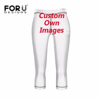 Wholesale Customized Fitness - FORUDESIGNS Customized Printing Fashion Elastic Women Leggings Brand Fitness Pencil Pants Breathable Female Calf-Length Pants