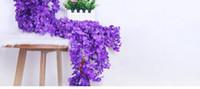 künstliche pflaumenrosen großhandel-2 Meter langes elegantes Rayonblumenrebe Wisteriaweidenhochzeitsdekorationsblumenstrauß-Kranzhaus geben Verschiffen frei