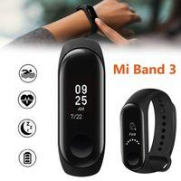 oled anzeigen großhandel-Herkunft: Xiaomi Mi Band 3 Smart Armband Uhr Miband 3 Fitness Tracker Herzfrequenz 0,78 OLED Display Touchpad Monitor Armband