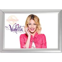 Wholesale Picture Frame Custom - Silver Color Aluminum Alloy Picture Frame Home Decor Custom Canvas Frame Violetta Canvas Poster F170112#97