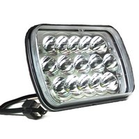 Wholesale led headlights for trucks - 2PC 5X7 7X6 Sealed Beam LED Headlight Replacement for Jeep Cherokee XJ Trucks