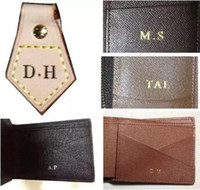 Wholesale wallets order for sale - Group buy customer order hot stamp hot stamping your initials on your bag or wallet