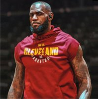 Wholesale men s pullover sweater vests - 18SS high quality Cavaliers, James, sleeveless hooded, sweater, warrior, Curie, basketball vest, training out of service.