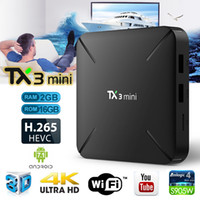 Wholesale mini processors resale online - 2019 new TX3 Mini Android TV Box GB RAM GB ROM WiFi Amlogic S905W Quad Core A53 Processor Bits Android tv devices for television