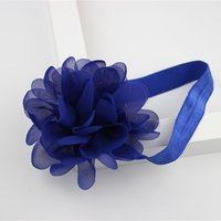 Wholesale Bow Wool Headband - 2018 Hot children's headwear environmental protection organza tape Hair band Headband 6 color headbands baby headbands hair bows