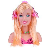jouets de la moitié du corps achat en gros de-Demi-Corps Maquillage Coiffure Poupée Coiffure Tête De Mode Poupées Mannequin Tête Filles Prétendre Jouer Jouets Cadeau