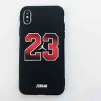 ip halatları toptan satış-2018 Jersey Tasarımcı Telefon Kılıfı için IPhone X 6/6 S 6 artı 7/8 7 artı / 8 artı Yüksek Sokak Tarzı Hip Hop Marka Kılıf Kapak Telefon Kılıfı ile Halat