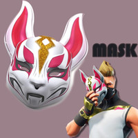 Wholesale fox cosplay for sale - Game Fortnite mask Fox mask adult Halloween party Cosplay Plastic headgear Masks Toys Bar KTV Dress Up Props