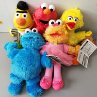Wholesale tv birds resale online - New CM Sesame Street Ballerina Zoe Bert Elmo Big Bird Cookie Monster Plush Doll