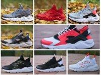 erkekler için huarache toptan satış-Yeni Huarache 1.0 4.0 Koşu Ayakkabıları Erkek Kadın üçlü Siyah Beyaz kırmızı Huaraches Sneakers Spor Ayakkabı boyutu US5.5-11 Eur36-45