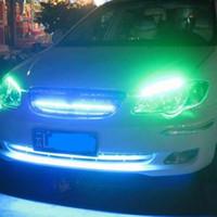 bar ışıkları satılık toptan satış-Sıcak Satış Yeni Araba styling Enerji tasarrufu 5050 LED Yumuşak Parlak Işık Çubukları Araba Için 48 LEDs Orta Muhafız Grille Sürüş Çalışma Işığı
