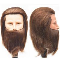 ingrosso manichino capelli uomo-Manichino uomo 100% capelli umani formazione con teste per parrucchieri uomini manichino testa con capelli umani scuola di bellezza