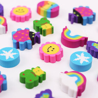 Wholesale boxed erasers resale online - Lovely Colored Eraser Office Stationery Square Box Eraser for Students Kids Creative Item Gift new hot sales