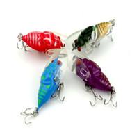 señuelos de la cigarra al por mayor-Mini Fat Cicada Shape Pesca Lightweight Artificial Señuelos Cebos 4cm Mini Fishing Tackle With Two Sturdy Hooks 2 5hj ZZ