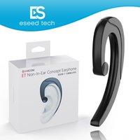 ingrosso earbuds earplug-Cuffie Bluetooth senza fili Auricolari a conduzione ossea Auricolare stereo No Auricolari Auricolari con microfono per Samsung iphone x 8 Plus Smartphone
