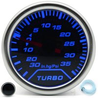 turbo boost gauge psi großhandel-2 zoll 52 MM Universal PSI Boost Turbo Auto Gauge-30 In. Hg ~ 35 Psi Meter Auto Blau LED