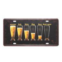freies vintages plakat großhandel-Sommer Bier Auto Platte Vintage Metall Blechschild Bar Pub Club Taverne Home Decor Wandaufkleber Kunst Poster Malerei Freies Verschiffen A617