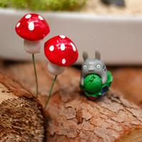 ingrosso funghi kawaii-20pcs kawaii resina artigianato Decorazioni Mushroom fairy garden miniature accessori Micro Paesaggio Pianta Bonsai inserita