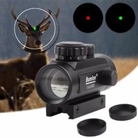 Wholesale 11mm mounts - Holographic 1 x 40 Red Dot Sight Airsoft Red Green Dot Sight Scope Hunting Scope 11mm 20mm Rail Mount Collimator Sight