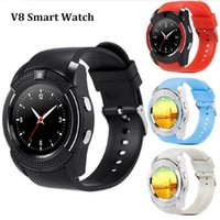 Wholesale gps watch dhl free online - V8 Smart Watch Wristband Android Watch Smart SIM Intelligent Mobile Phone Sleep State Smart Watch Cradle Design free DHL