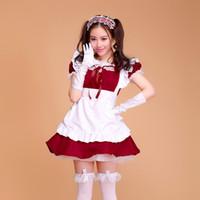 niedliche mädchen-stil großhandel-Candy Farbe Maid Outfits Lolita Kleid Cartoon Kostüm Cosplay Prinzessin Cute Style Lolita Mädchen Kleid Anzüge mit Plus Größe S-2XL