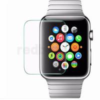 ingrosso schermo di pellicola reale di vetro temperato reale premium-Custodia protettiva ultra trasparente premium in vetro temperato con pellicola protettiva per Apple Watch Iwatch 38mm 42mm