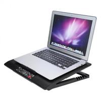 almohadillas de refrigeración para notebooks al por mayor-Universal debajo de 17 pulgadas portátil Notebook Cooler Pad Cooling Base USB Fans ángulo ajustable monta con soporte Holder envío gratis