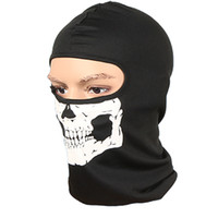 Wholesale skull full face ski mask online - mask Cycling s Balaclava Skull Outdoor Sports Bike Bicycle Skateboard Motorcycle Ghost Ski Riding Hat Protect Full Face Mask
